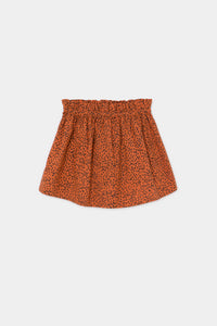 All Over Leopard Flared Skirt