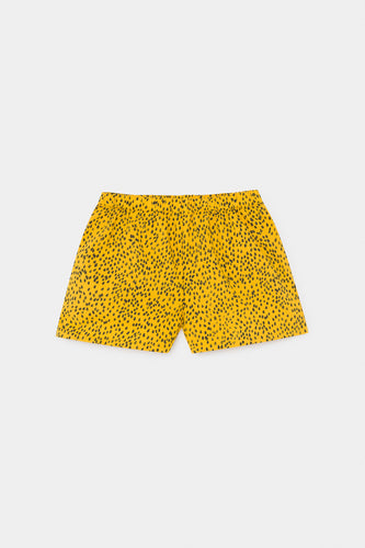 All Over Leopard Woven Shorts