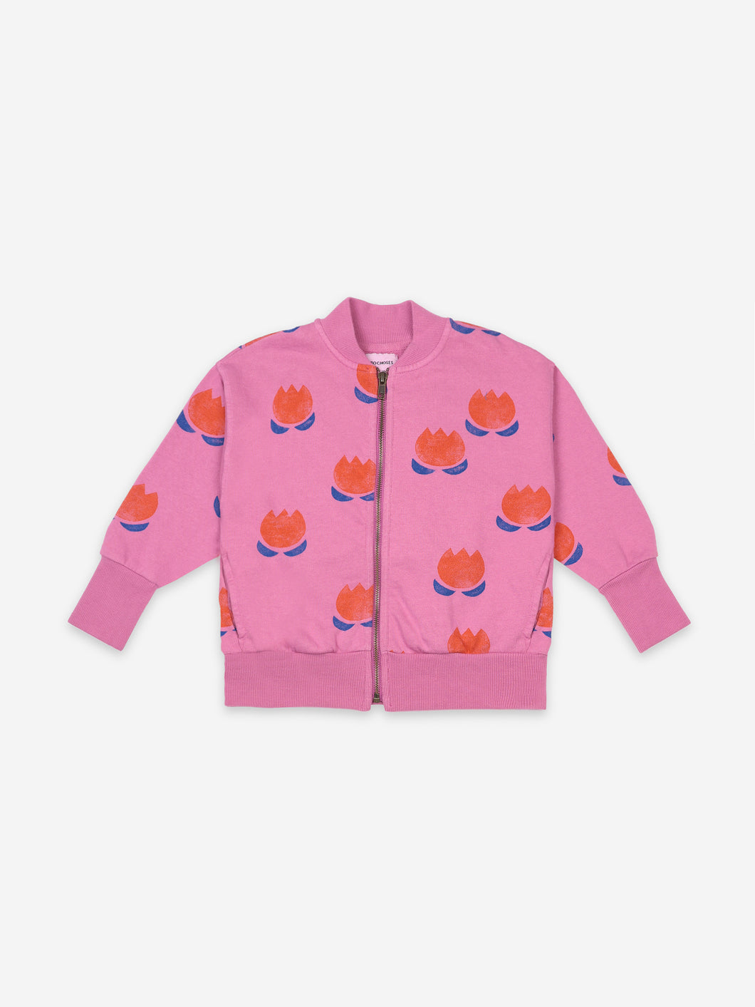 Chocolate Flowers All Over Zipped Sweatshirt
