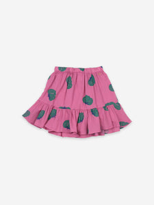 Tomatoes All Over Ruffle Mini Skirt