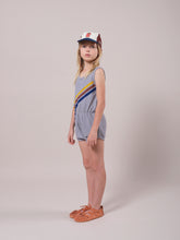 Load image into Gallery viewer, Crosswise Stripes Fleece Playsuit
