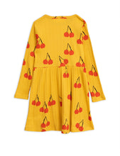 Yellow Cherry Long Sleeve Dress