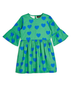 Hearts Flared Sleeve Dress