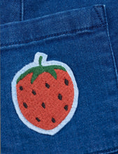 Load image into Gallery viewer, Strawberry Denim Skirt