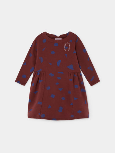 All Over Stuff Fleece Dress
