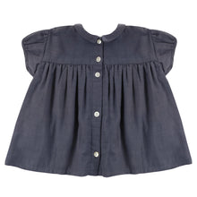 Load image into Gallery viewer, Juno Blouse - Ink Blue Muslin (LAST ONE 5/6Y)