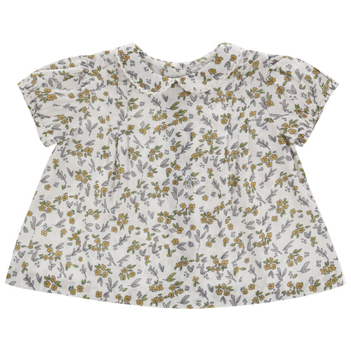 Mabel Blouse - Yellow Meadow Floral