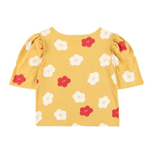 Load image into Gallery viewer, Flower Puff Sleeve T-Shirt