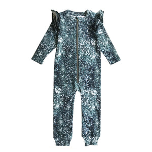 Glitter Ruffle Space Suit
