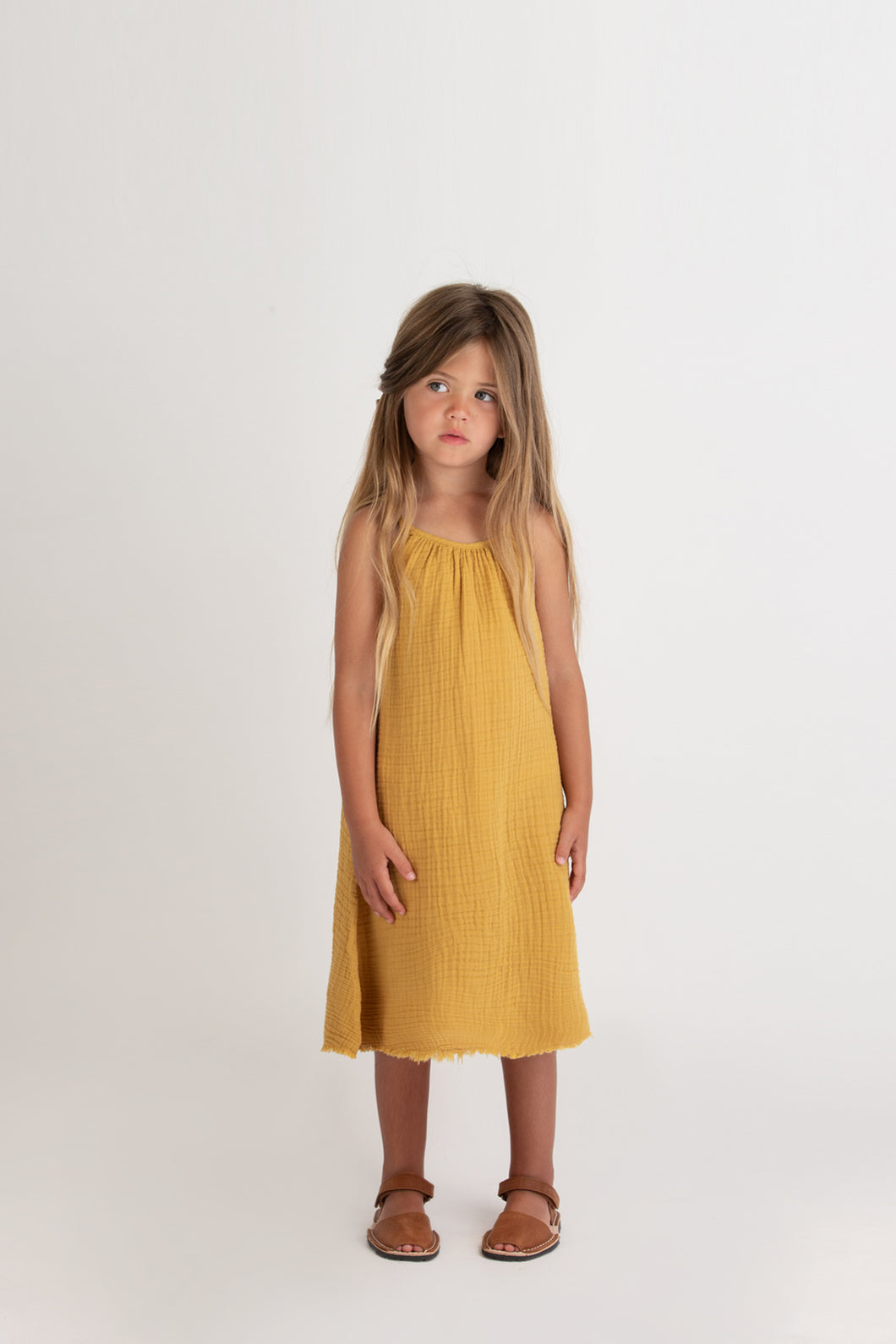 Gauze Sundress - Golden