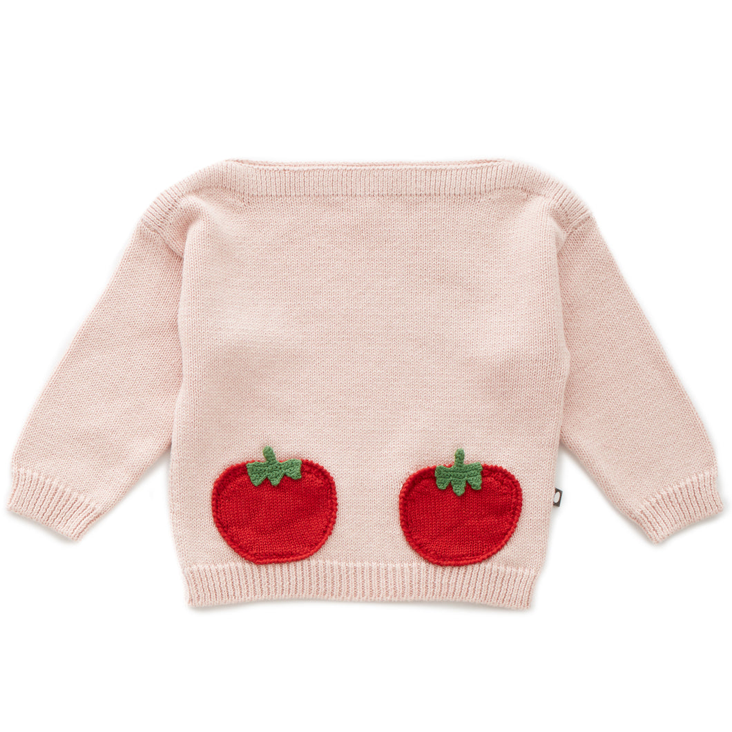 Tomato Pocket Sweater (LAST ONE 6Y)