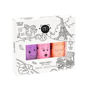 Paris Neon Nail Polish Set