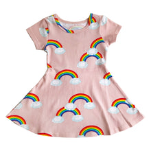 Load image into Gallery viewer, Pink Rainbows Skater Dress