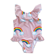 Load image into Gallery viewer, Pink Rainbows Swimsuit