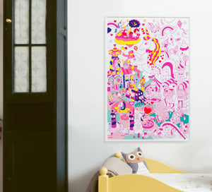 Giant Coloring Poster - Lily Unicorn