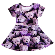 Load image into Gallery viewer, Purple Bears Skater Dress (LAST ONE 8Y)