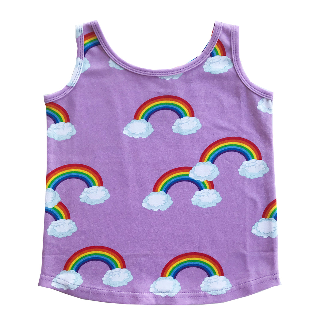 Purple Rainbows Tank Top