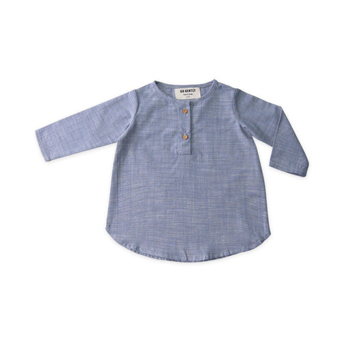 Placket Top - Chambray