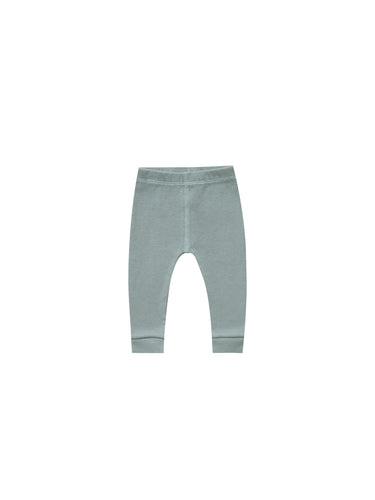 Ribbed Legging - Sea (LAST ONE 3-6m)