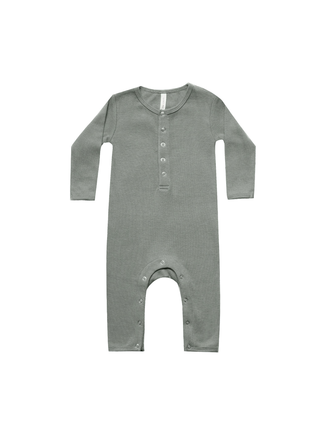Ribbed Long Sleeve Jumpsuit - Eucalyptus