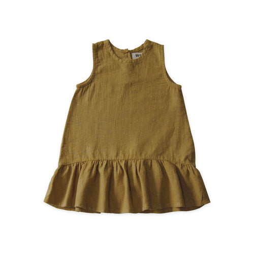 Sleeveless Ruffle Hem Dress - Fennel (ONLY 2T, 6T)