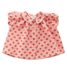 Short Sleeve Blouse - Tomato Print