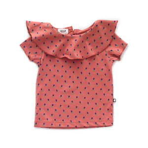 Ruffle Collar Tee (LAST ONE 8Y)