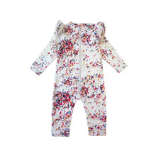 Sugar Dots Ruffled Space Suit (LAST ONE 2T)