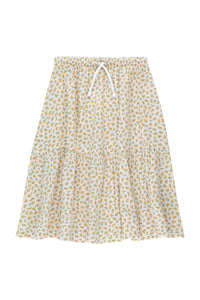Small Flowers Long Skirt