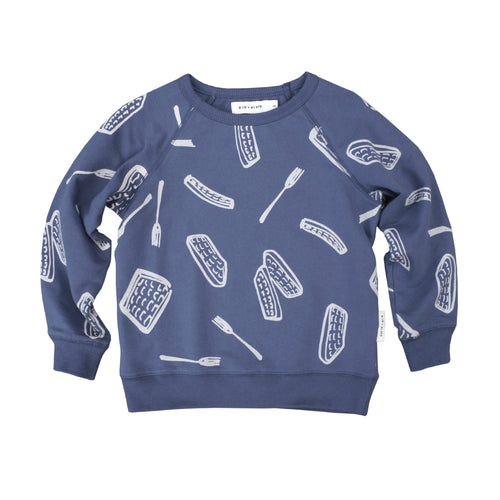 Waffles Pullover Sweatshirt (LAST ONE size 6/12mo)