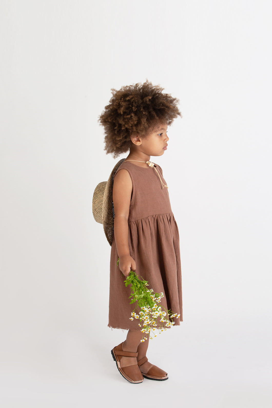Sleeveless Prairie Dress - Hazelnut