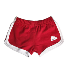 Load image into Gallery viewer, Kawaii Cloud Running Shorts - Red (LAST ONE 5-6y)
