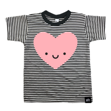 Kawaii Heart Striped T-Shirt