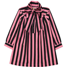 Pink/Black Stripes Bow Dress (LAST ONE 1T)