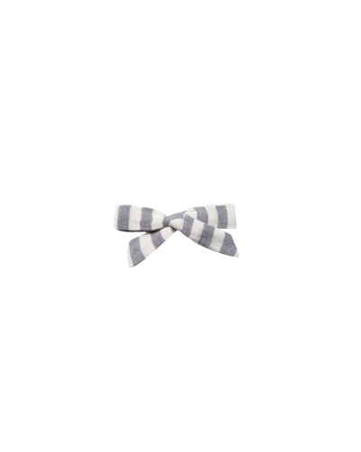 Storm Stripe Bow on Clip