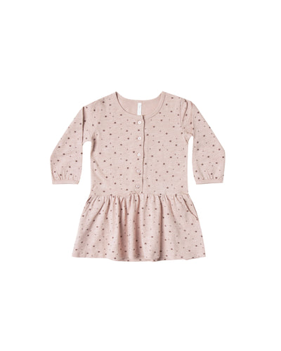 Mini Stars Button Up Jersey Dress (LAST ONE 18/24mo)