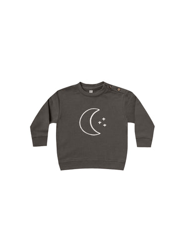 Fleece Basic Sweatshirt - Coal (LAST ONE 6-12mo)