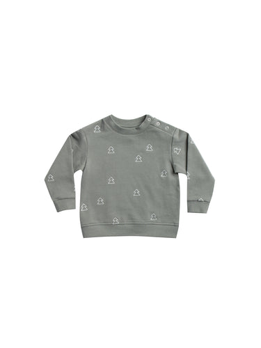 Fleece Basic Sweatshirt - Eucalyptus (LAST ONE 0-3mo)