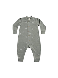 Fleece Jumpsuit - Eucalyptus (LAST ONE 3-6mo)
