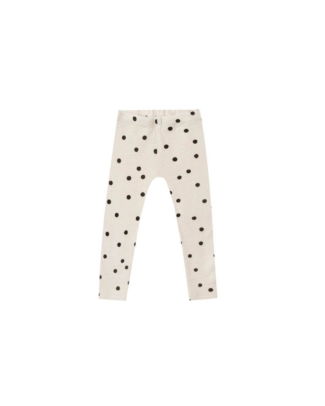 Dot Knit Legging - Black/Wheat
