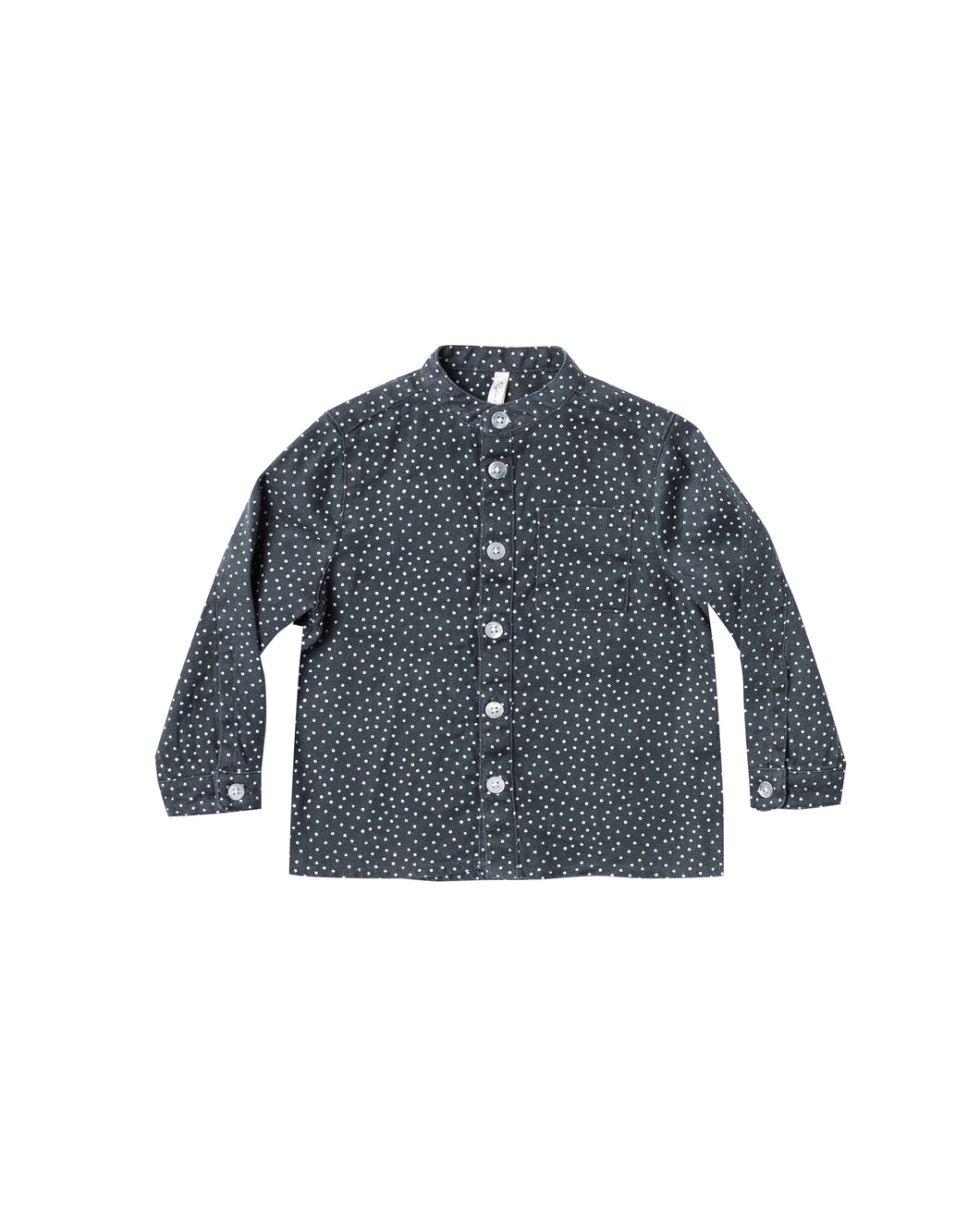 Dot Mock Neck Shirt