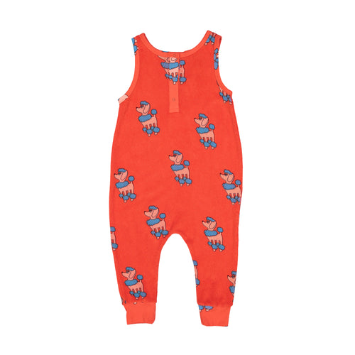 Red Poodle Terry Long Leg Romper