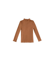 Load image into Gallery viewer, Ribbed Long Sleeve Tee - Cinnamon