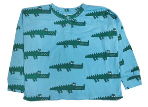 Blue Crocodile Henley Wide Tee (LAST ONE 8T)