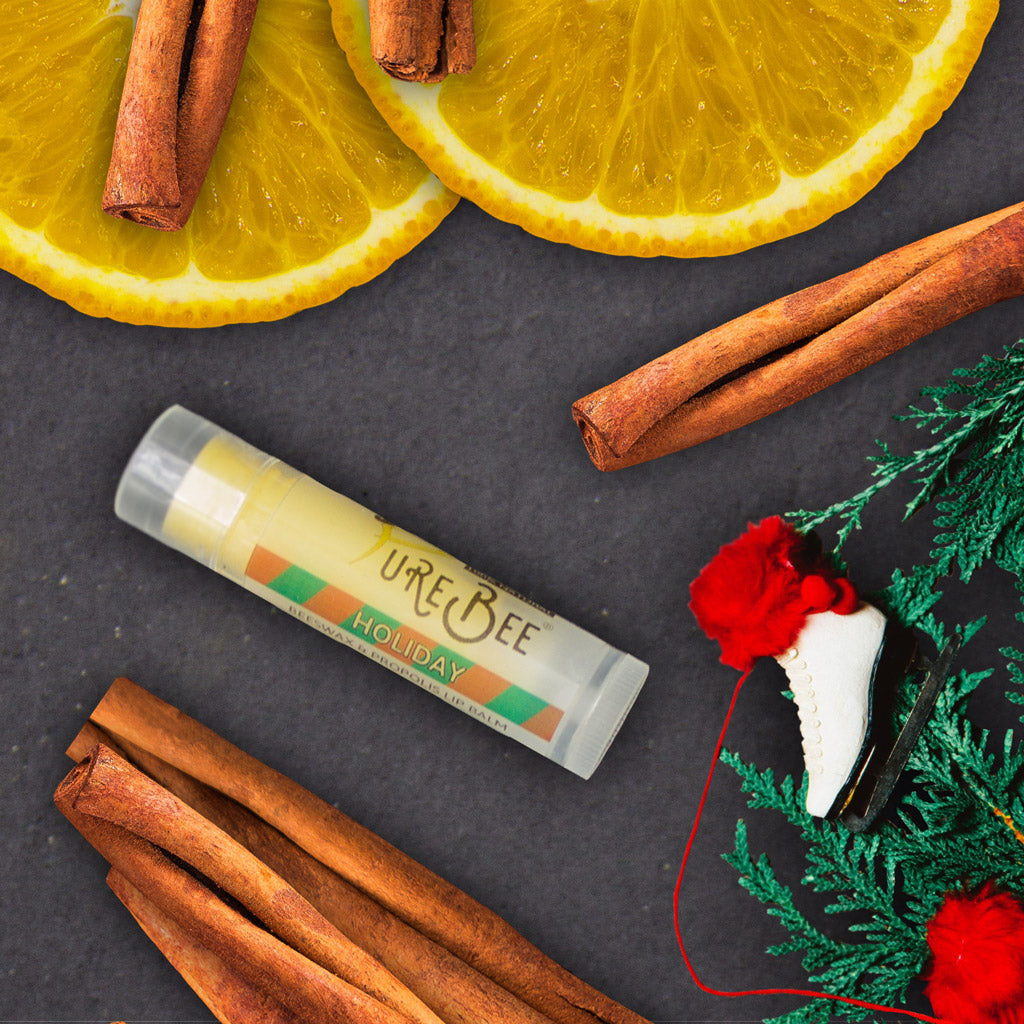 PureBee Holiday Lip Balm