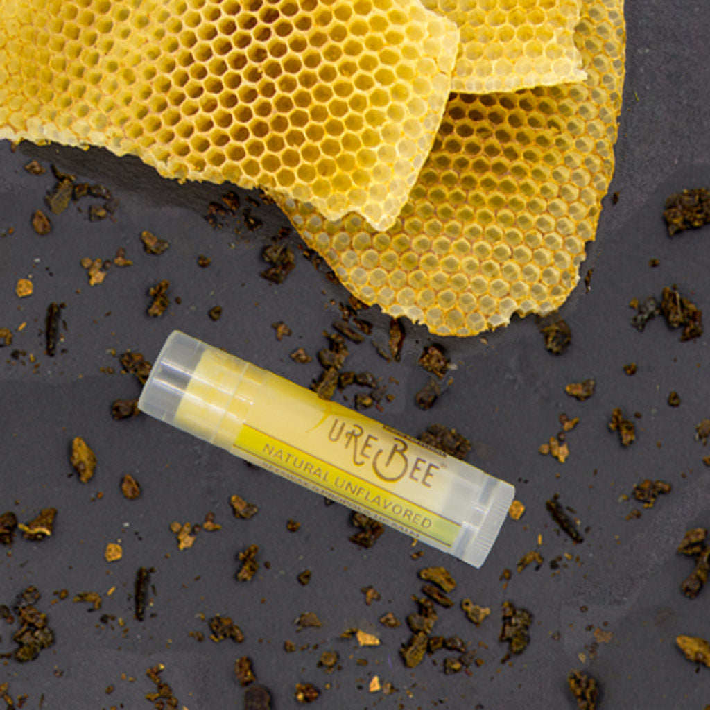 PureBee Unflavored Beeswax & Propolis Lip Balm