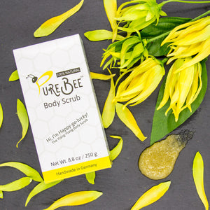 Hi, I'm Happy-go-lucky - the Ylang Ylang Body Scrub!