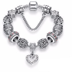 Spectacular Silver Plated Charm Bracelet