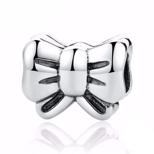 925 Sterling Silver Charm, Bow Knot