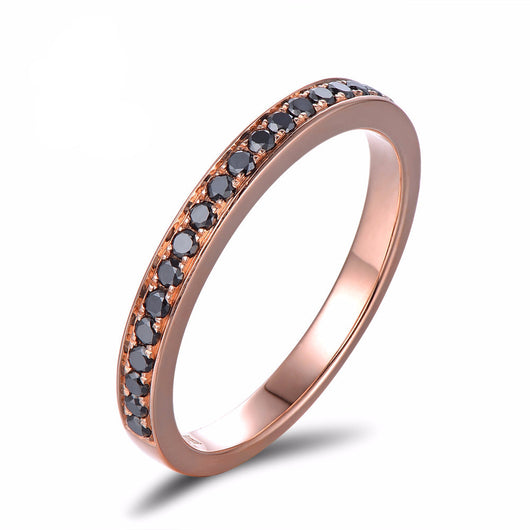 Rose Gold Diamond Engagement Ring: 14ct Gold, 0.21ct Weight